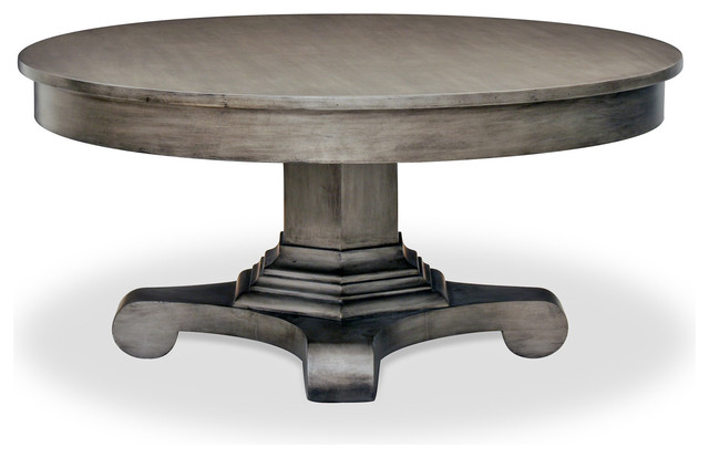 Drake Coffee Table Tarnished Silver Contemporary Coffee Tables
