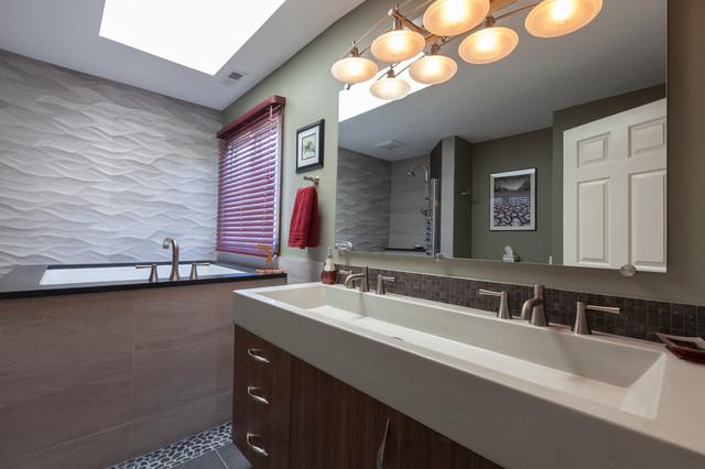 Edgy Contemporary Bathroom contemporary-bathroom