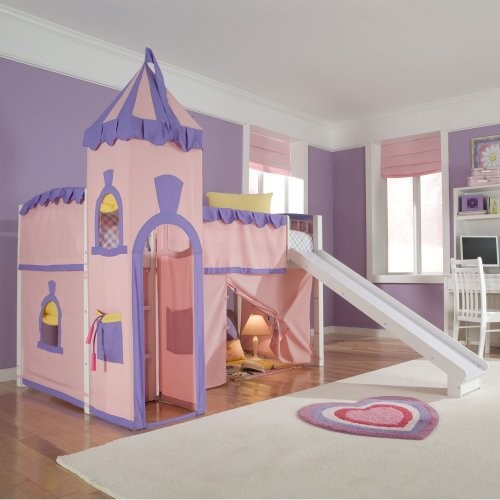 Schoolhouse Twin Princess Loft Bed - Eclectic - Kids Beds - by Hayneedle
