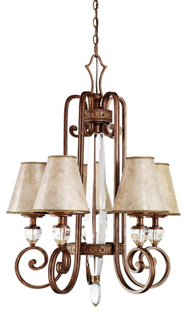 """Contemporary Hanna Collection Heritage Bronze 26"""" Wide Chandelier contemporary-chandeliers"""