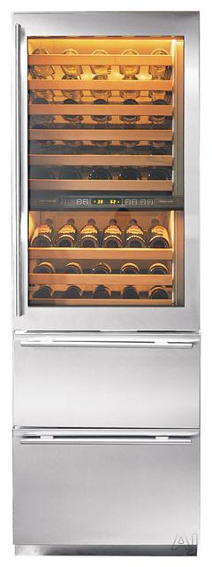 """Subzero 27"""" Built-in Tri Zone Wine/Refrigerator Storage contemporary-refrigerators"""