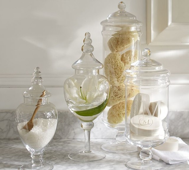 Bathroom Apothecary Jars : Classic glass apothecary jar traditional bathroom