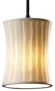 Limoges Mini Hourglass Pendant by Justice Design Group pendant-lighting