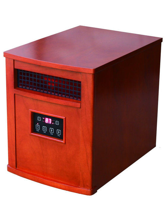 """Portable Comfort Furnace in Heritage Cherry - Dimensions: 16.9""""H x 13.2""""W x 18.9""""D"""