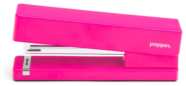 Stapler Pink Modern Desk Accessories by Poppin