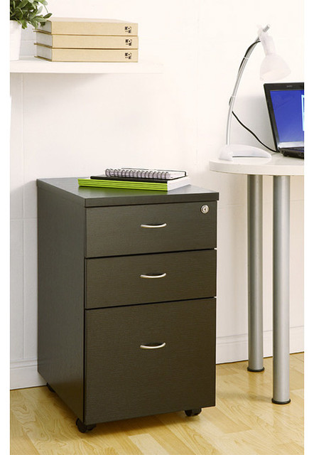 Furniture of America Basis 3-drawer Rolling File Cabinet - Contemporary - Filing Cabinets And ...