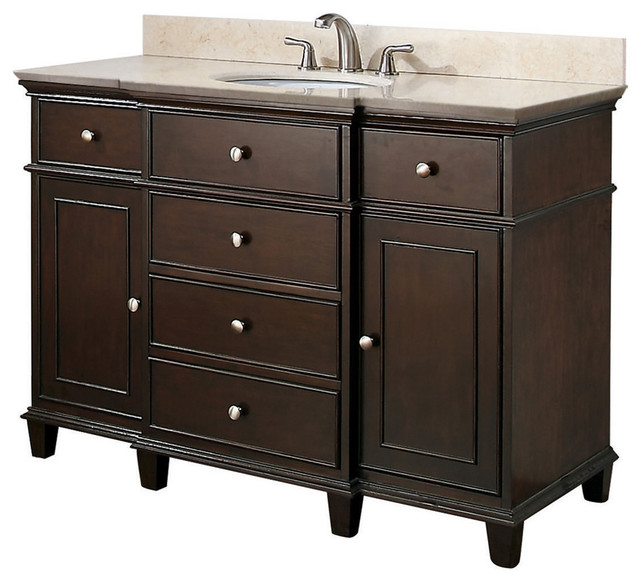 Large Single Sink Vanity : Large Single Sink Vanities - Traditional - los angeles - by Vanities ...