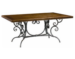 Waterbury Dining Table, Iron traditional-dining-tables