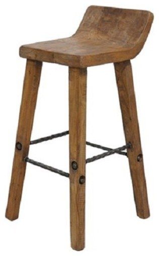 Artie Solid Wood Rustic Counter Stool Modern Living