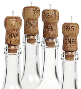 Champagne Cork Candles - Set of 4 modern-candles-and-candleholders