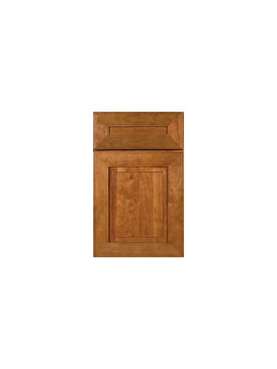 Cherry Door Styles from Wellborn Cabinet, Inc. - Monterey Cherry features a transitional design for today's contemporary home. Truly unique and striking combinations are possible with the versatility of Monterey Cherry. Featured here with our 5-piece drawer front.