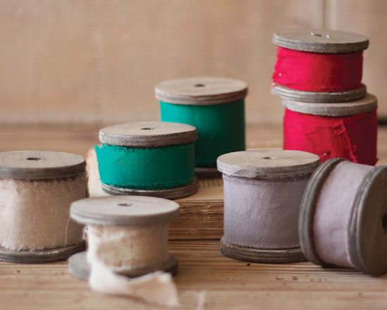 """Rustic Linen Ribbon on 4"""" Wooden Spool - These unique, hand-crafted accessories are imported from small cottage industries in Colombia, Honduras, Haiti, Morocco, and more."""