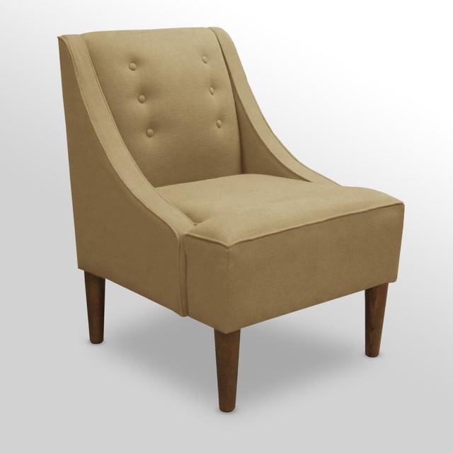 Swoop Arm Chair Sandstone Linen Modern Living Room