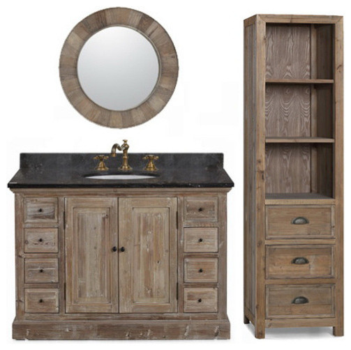 30 Awesome Rustic Bathroom Double Vanities
