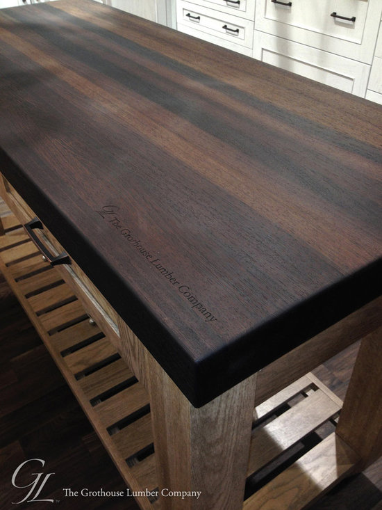 Wenge Wood Countertop featured in Elkay display booth at KBIS 2014 -
