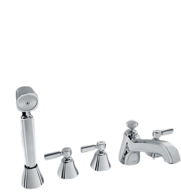 Toto TB7FR Deck Mount Bath Faucet W Lever Handles Hand Shower Diverte