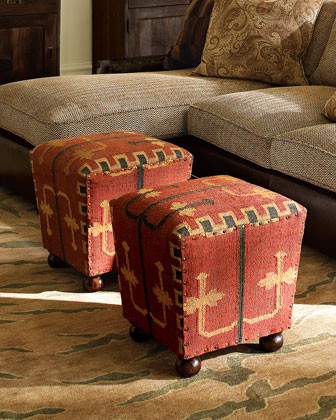 Kilim Cube traditional-footstools-and-ottomans