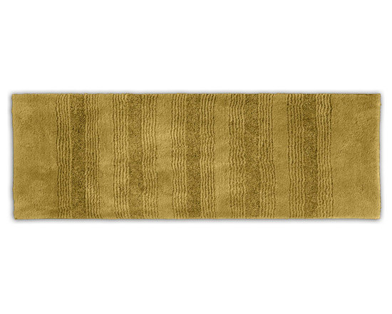 "Sands Rug - Westport Stripe Sand Dune Washable Runner Bath Rug (1'10"" x 5') - Classic and comfortable, the Westport Stripe bath collection adds instant luxury to your bathroom, shower room or spa. Machine-washable, always plush nylon holds up to wear, while the non-skid latex makes sure rugs stay in place."