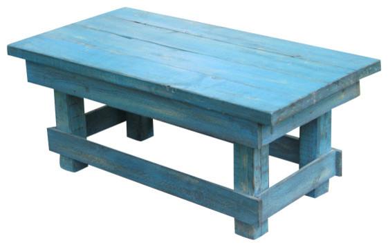 Aqua Distressed Coffee Table Rustic Turquoise Rustic Coffee Tables By Rustic Exquisite