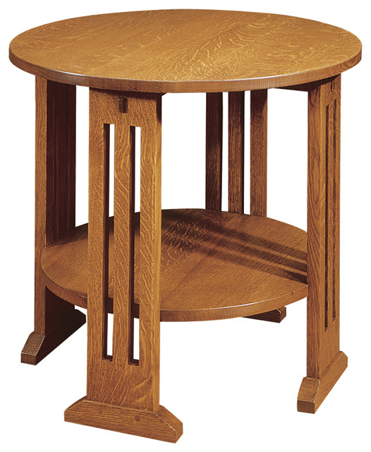 Stickley Round End Table 89 91 664