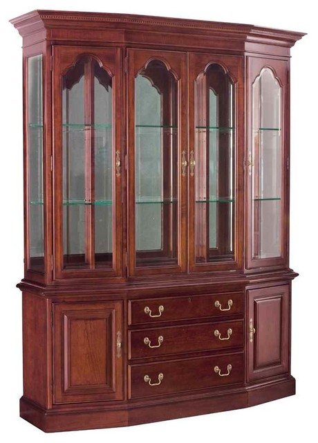 China Cabinet in Antique Cherry Finish - Contemporary - China Cabinets And Hutches - by ShopLadder