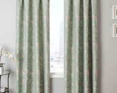 Blindsgalore Signature Drapery Panel: Kunas Patterned Jacquard traditional-curtains