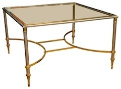 Mid-Century Chrome/ Brass Cocktail Table midcentury-side-tables-and-end-tables
