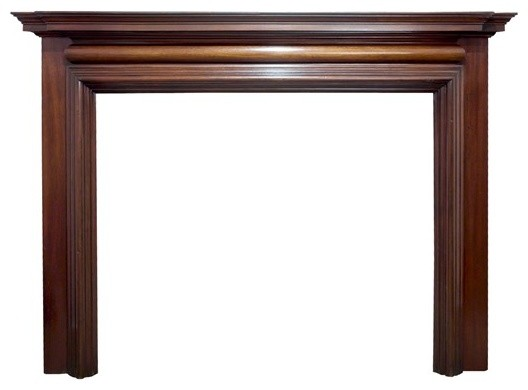 Antique English Mahogany Mantel Fireplace Mantels Los Angeles By La Vintage Furnishings