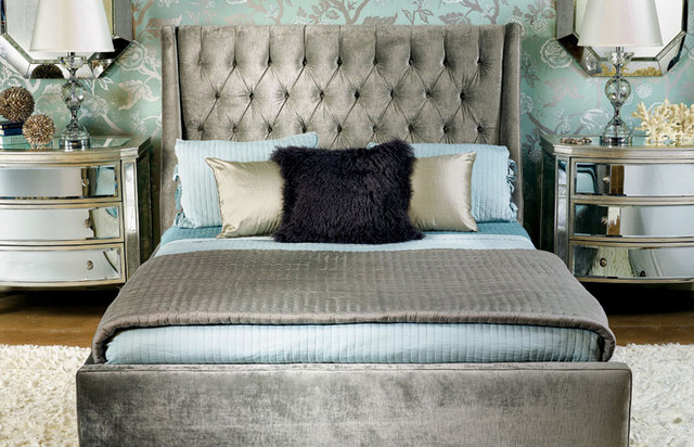 Amelia Bed -  Traditional Glam  beds