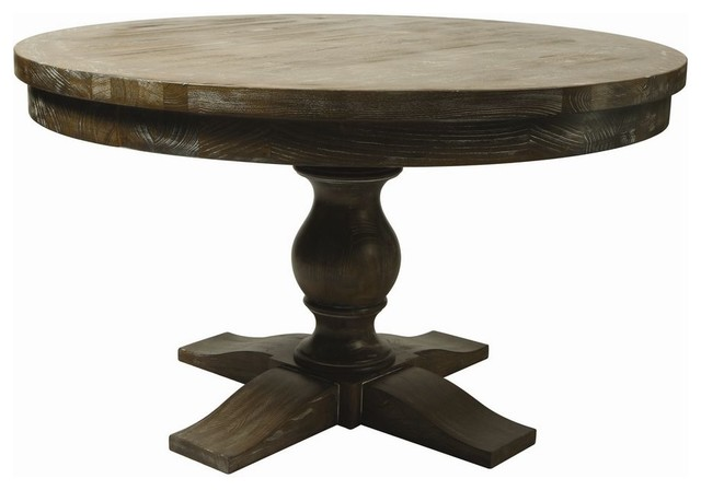 pastel furniture utopia 52 inch round table in charcoal