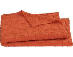 Knit Burnt Orange Throw modern-throws