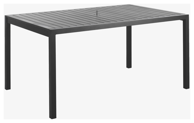Belize Metal Black Garden Table HabitatUK Modern Garden Dining And Patio Ta