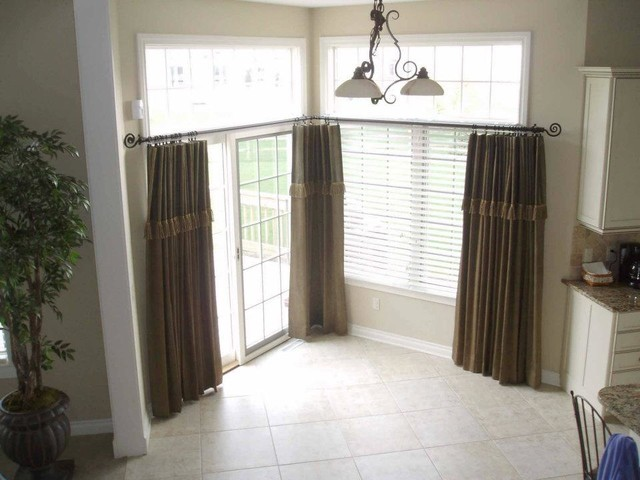 Window treatments for kitchens with large windows for Blinds for tall windows