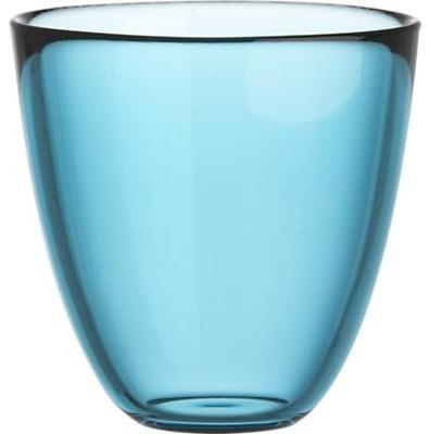 Joey Aqua  Beverage Glass contemporary-everyday-glasses