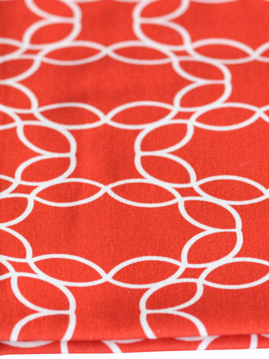 PURE Inspired Design - Petal Pillow, Orange/Natural, Swatch - Petal Ring organic cotton canvas swatch in Orange and Natural.  All our pattern organic fabric is grown, woven, and printed in the USA.