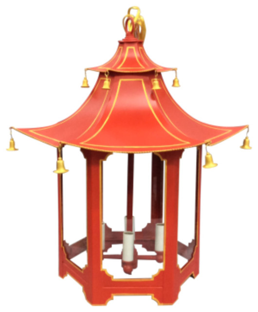 LCD2277 Red Pagoda Chandelier Asian new york by Two