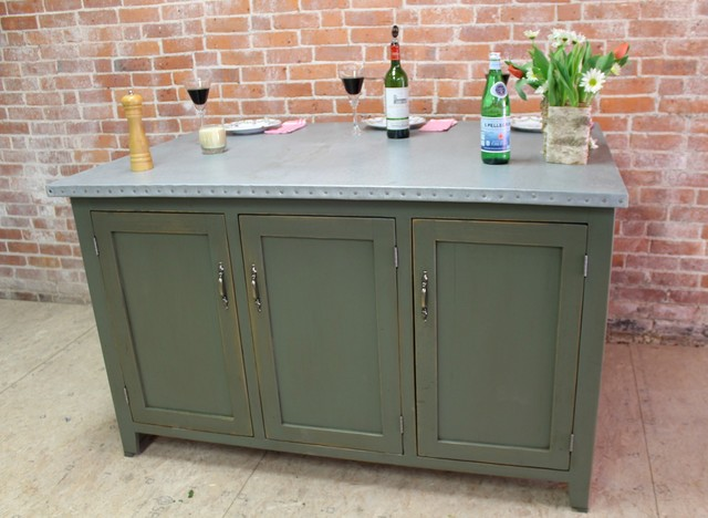 Rustic Modern Kitchen Island With Zinc Top Farmhouse Kitchen Islands And Kitchen Carts