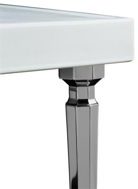Kohler K 6839 Cp Kathryn Octagonal Metal Legs Contemporary Bathroom Sinks By Plumbingdepot