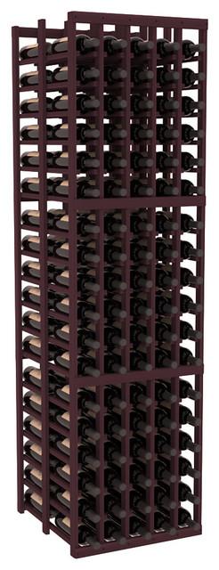 5 Column Double Deep Cellar in Redwood, Burgundy contemporary-wine-racks