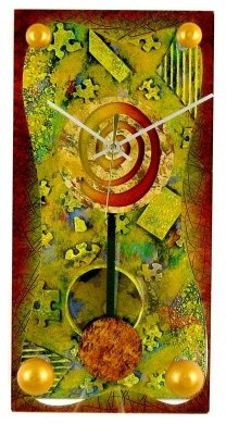 February Wall Clock by David Scherer - 8 Inches Wide modern-clocks