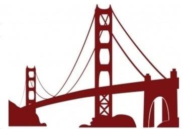 Golden Gate Bridge Wall Decal modern-wall-decals