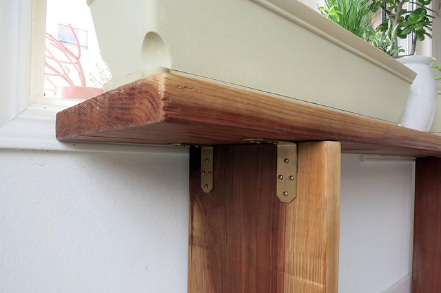 Redwood Garden Shelf