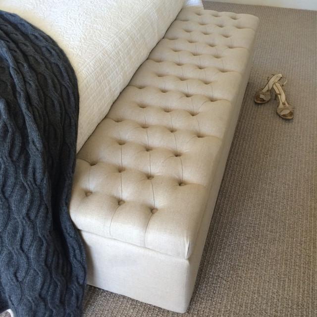 Modus Upholstered Milano Blanket Storage Bench White: Bed Ottoman Blanket Box