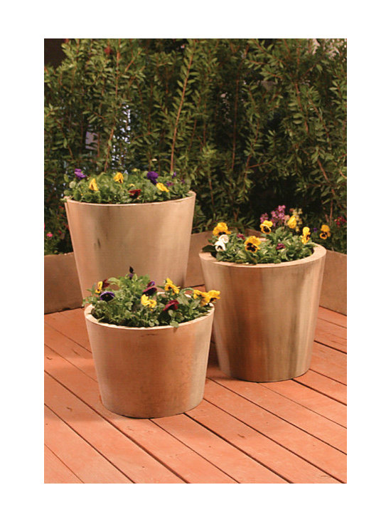 Jug Garden Planter - I'm a fan of planters that can be grouped together. I like the clean lines this one has and how they make a statement when clustered together.