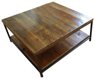 Sustainable Urban Wood and Steel Coffee Table industrial-coffee-tables