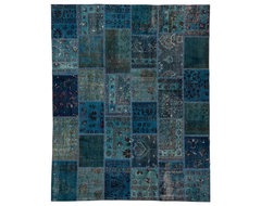 Patchwork Sky Blue Without Boarders traditional-rugs
