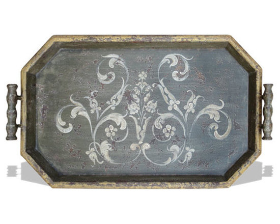 Art and Accessories - This accessory tray is hand painted and hand crafted from environment friendly materials! See more online at www.KoenigCollection.com