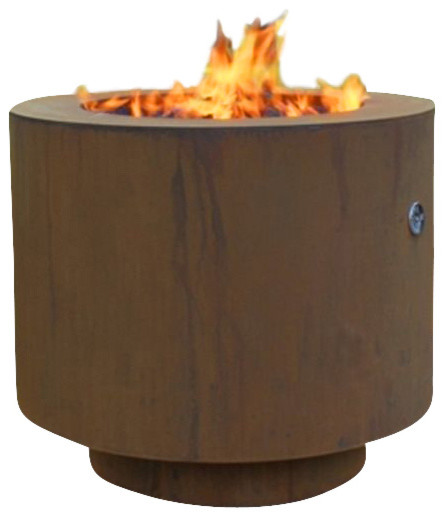 Round Fire Pit for Lava Roc or Glass - contemporary - firepits ...