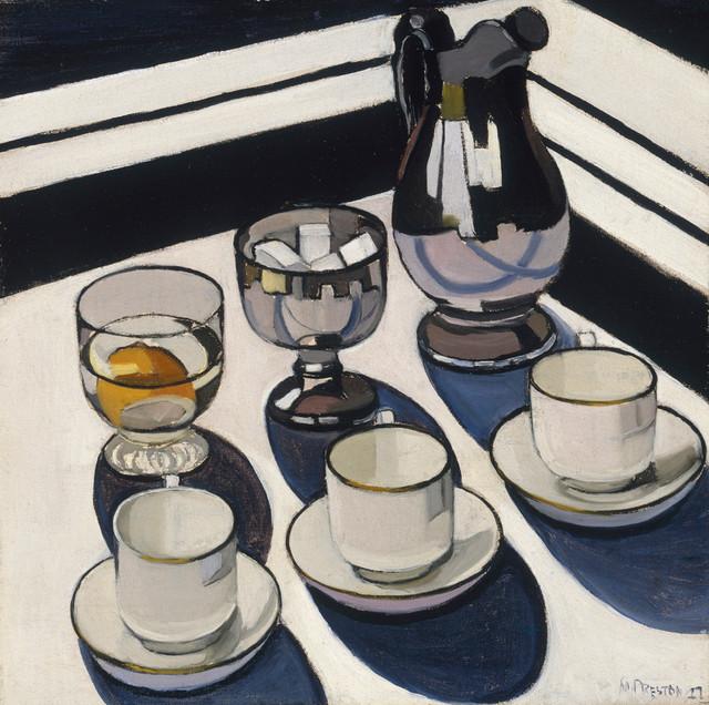 Implement blue, Margaret Preston, 16x20 modern-artwork