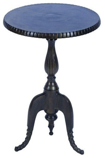 Aluminum Classic Round Accent Table with Suave Curve Design traditional-side-tables-and-end-tables